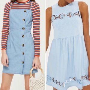 Top shop Embroidered Babydoll Dress Bundle(x2)